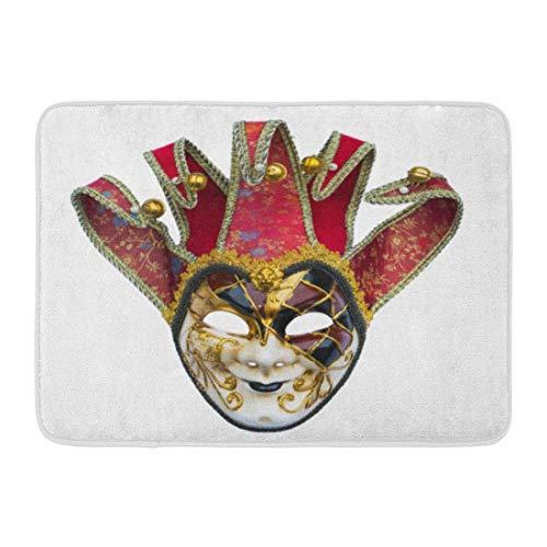LIS HOME Fußmatten Bad Teppiche Outdoor/Indoor Fußmatte Theater Joker Maske Venezianischen Glocken Karneval Kostüm Verkleidung Badezimmer Dekor Teppich Badematte (Benutzerdefinierte Theater Kostüme)