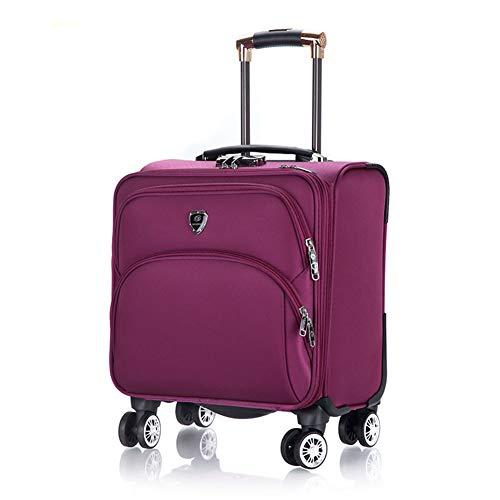JBAG-one Herren Rolling Laptop Bag, Rolling Aktentasche für Damen, Handgepäck mit Rollen, Business Trolley 18 Zoll,Red -