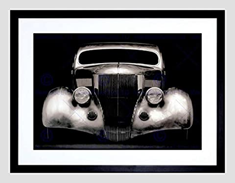VINTAGE PHOTOGRAPHY CLASSIC CAR AUTOMOBILE COOL FRAMED ART PRINT MOUNT B12X3457