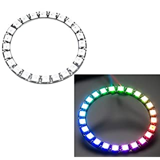 Aihasd WS2812B Module Strip 24 Bits 24 X WS2812 5050 RGB LED Ring Lamp Light with Integrated Drivers