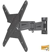 Universale TV Pared Aluminio Soporte de pared con sistema de gestión de cable para 23–55pulgadas Curved TVs