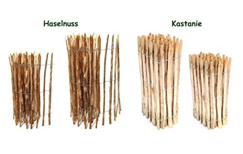 *Staketenzaun Haselnuss 60 x 500 cm ( Lattenabstand 7-9 cm ) – Staketen Rollzaun Kastanienzaun Garten Zaun Kastanie ++ Kostenloser Versand ++*