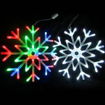 40 LED luci colorate fata fiocco di neve stringa luce della tenda matrimonio natale arredamento vacanza