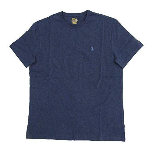 Polo Ralph Lauren Herren T-Shirt, klassisch, Pony, Rundhalsausschnitt, Baumwolle Gr. XL, Navy Heather/Steel Blue