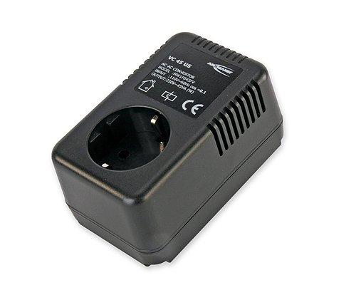 Ansmann VC 45 US Convertitore di tensione (230 Volt AC-230 Volt AC), colore: Nero