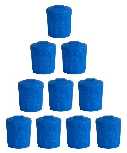 The Trash Pack Serie 3 - 10er Set kleine blaue Tonnen 3cm (leer, ohne Müllmonster)