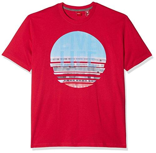 s.Oliver Big Size Herren T-Shirt Rosa (Intense Pink 4565)