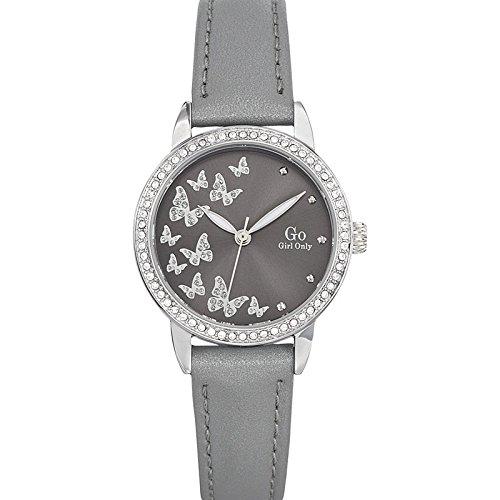 Go Girl Only Damen-Armbanduhr 698604–Armbanduhr 1076312Analog Leder Grau