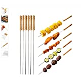 Novicz Cast Iron Barbeque Kebab Skewers, 6-Pieces, Multicolour