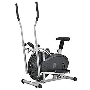 ArtSport 2in1 Crosstrainer & Ergometer | Computer LCD Display Sitz Schwungrad | Heimtrainer Hometrainer Ellipsentrainer Fahrrad Fitnessgerät Stepper