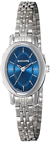 Sonata Analog Blue Dial Women's Watch -NK8100SM04