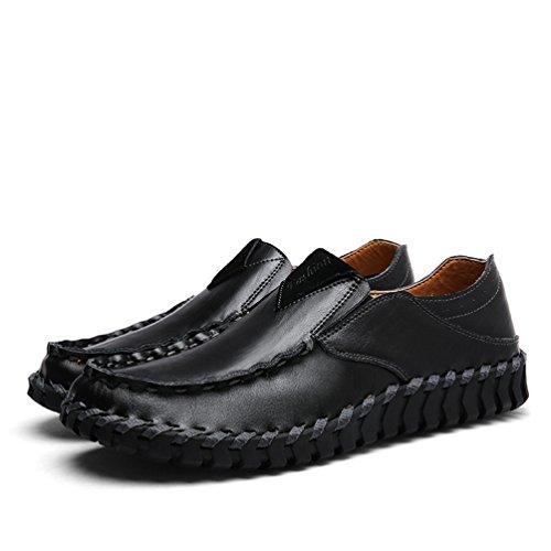 Dooxi Hommes Décontractée Plat Loafers Chaussures Confort Mocassins Bateau Chaussure Mode Conduite Chaussures Noir