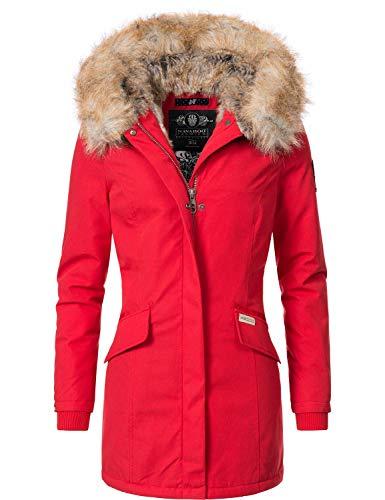 Navahoo Damen Winterjacke Winterparka Cristal Rot Gr. XXL