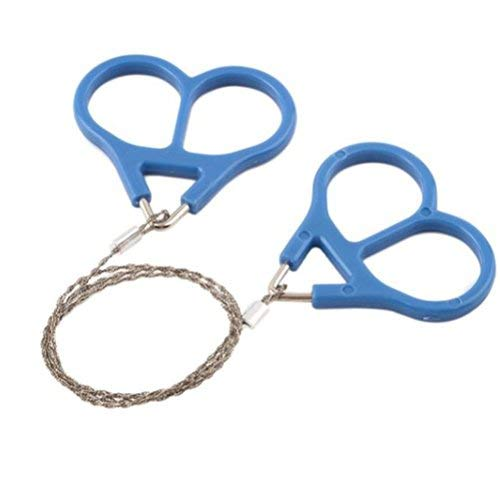 VORCOOL Mini Stainless Steel Wire Saw Ideal for Survival Gear Camping Hunting Tree Cutting Emergency Kit Tool Chain