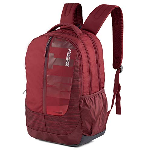 American Toruister Pop Nxt 03 Polyester Casual Backpack (Crimson) Image 2