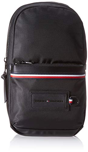 Tommy Hilfiger - Modern Nylon Slingpack, Shoppers y bolsos de hombro Hombre, Negro Black, 8x36x20...