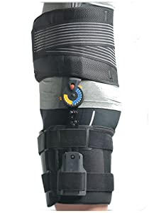 Adjustable ROM Hip Orthosis Immobiliser - Hip Support Brace Wrap Stabiliser - Used for Post-operative hip revision, Total hip replacement, Internal fixation of hip fractures, hip dislocations or fractures Immobilisation of hip, Arthritis, Strains, sprains