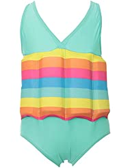 GudeHome Badeanzug mit Kostenlos Armbinde für Kinder mit Schwimmbojen Schwimmhilfe Baby Bojenbadeanzug Junge Mädchen 16 entnehmbare Auftriebs-Blöcken