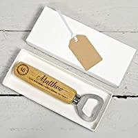 Personalised Bottle Opener - 18th Birthday Gift for Boys - 18th Birthday Gift Idea - Happy 18th Present. (Can also be produced as a 21st birthday gift)