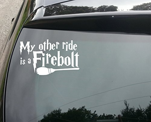 my-other-ride-is-a-firebolt-funny-car-bumper-vinyl-decal-sticker-210mm