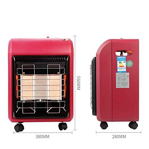 WJH9 Tragbare Gasheizung Kabinett Keramik FFD Anti Tilt Piezo-Zündung DREI Blockheizung, automatische Abschaltung, Starke Heizung mit Sauerstoff Erkennung, Sicherheit,X2pack