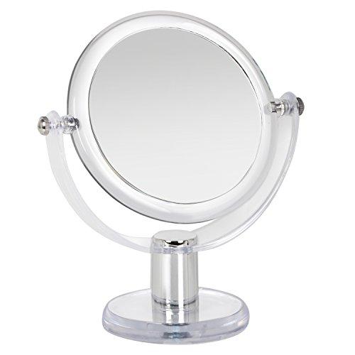 TRIXES Miroir Grossissant Acrylique Transparent Deux Faces