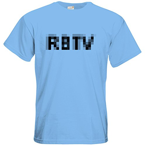 getshirts - Rocket Beans TV Official Merchandising - T-Shirt - Pixel 2.0 RBTV Sky Blue