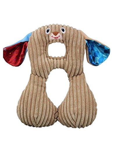 ACMEDE Baby Nackenstütze Kopfstütze Kissen 2 in 1 Nackenkissen Nackenhörnchen Cartoon Kopfkissen für Kinderautositz Autofahren Reisen Babyschale - Geeignet für 1-4 Jahre Kleinkinder
