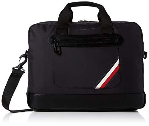 Tommy Hilfiger Herren Easy Nylon Computer Bag Laptop Tasche, Schwarz (Tommy Navy/Core Stp) Preisvergleich