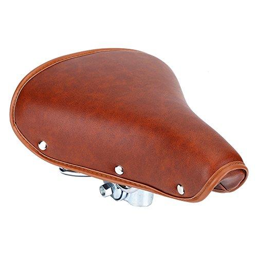 DEWIN Bike Seat, vintage in pelle Spring sella della bici, comodo e resistente da bici di accessori per donne uomini