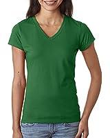 Fruit of the Loom Ladies' 4.7 oz. 100% SofspunTM Cotton Jersey Junior V-Neck T-Shirt