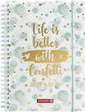 """BRUNNEN 1072985090 """"Confetti"""" , Schülerkalender/Wochenkalender 2019/2020 , 2 Seiten = 1 Woche , Blattgröße 14,8 x 21 cm , A5 , PP-Einband"""