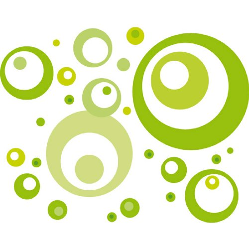 61 Deco Sticker / Wandtattoo Lime Green Bubbles 50x70cm (Ds-lime Green)