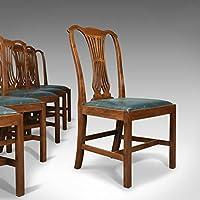 lot de six chaises de salle manger anglais hepplewhite revival style victorien