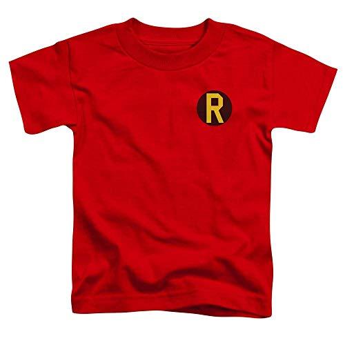 DC Batman Comics Superhero Robin Costume R Logo Little Boys T-Shirt Tee