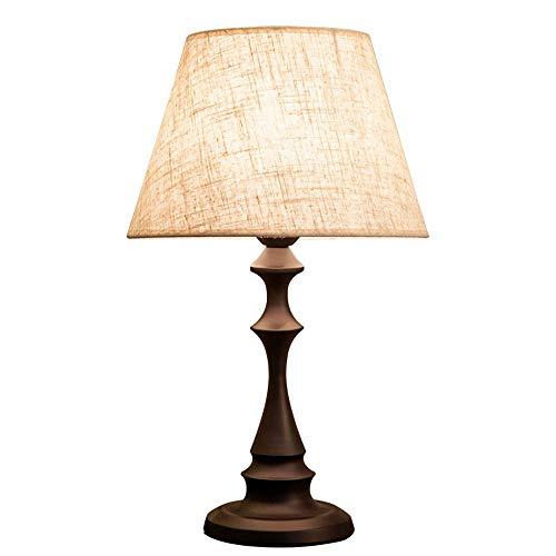 VOVOVO Lámpara de Mesa para Dormitorio o Sala de Estar, Lectura de ...
