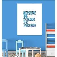Alphabet E Nursery Children Educational Early Learning Poster Print Wall Art V2 preiswert