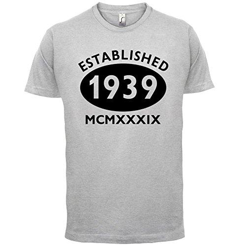 Gegründet 1939 Römische Ziffern - 78 Geburtstag - Herren T-Shirt - 13 Farben Hellgrau
