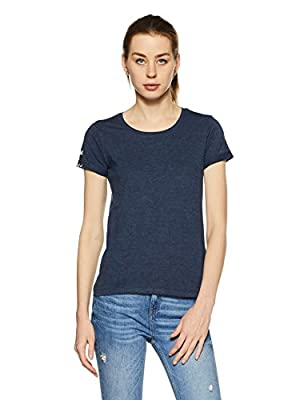 Flying Machine Women's Plain Regular Fit T-Shirt
