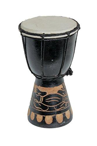 20cm Djembe Gecko Schwarz Djembe Trommel Bongo Drum Handtrommel Buschtrommel Percussion Kinder Fair Trade