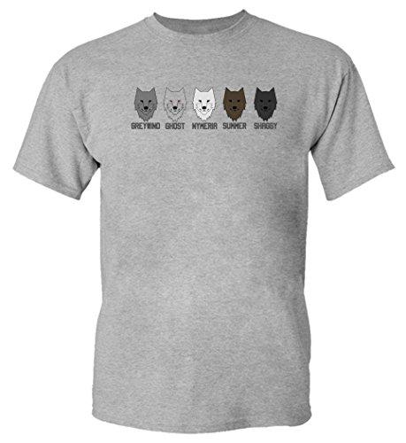 (Game Of Thrones Wolves Greywind Ghost Nymeria Summer Shaggy Medium Herren T-shirt)