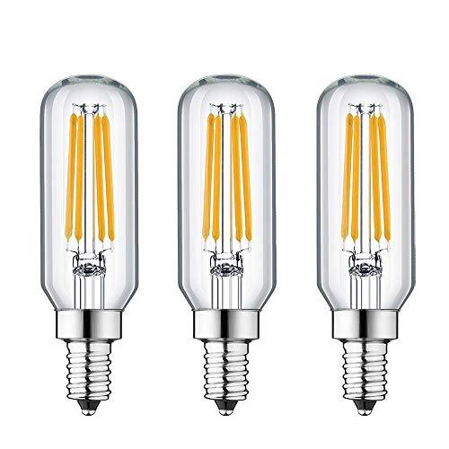 BOGAO Kandelaberlampe 40 Watt Äquivalent E14 Glühlampe Dimmbar 4W LED Glühbirnen Warmweiß 2700K mit 400lm E14-Sockel LED Vintage Lampe T25 Röhrenlampe für Kronleuchter, Wandleuchte (3er Pack) -