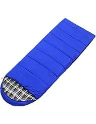 GZD ultra-ligero envolvente camping al aire libre saco de dormir de invierno flanela caliente puede ser empalmados adultos sacos de dormir , blue