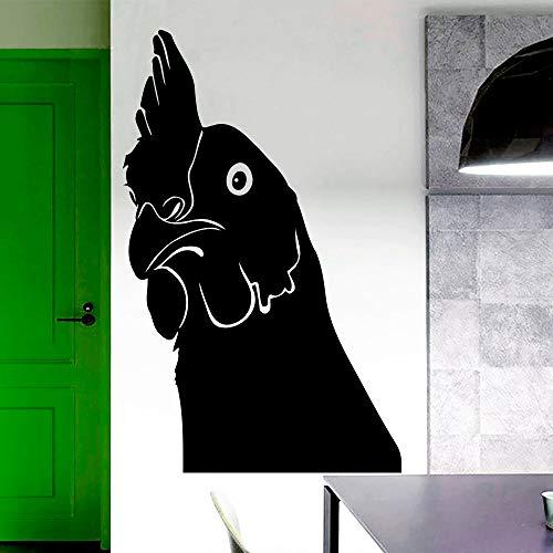 ruthahn Silhouette Lustige Wandaufkleber Zimmer Spezielle Art Decor Vinyl Wandtattoos Wandbild Lustiges Gesicht Wm 57x90 cm ()