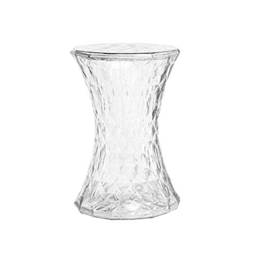 QINGPINGGUO QPG Hocker Diamond Chair Niedriger Tisch Hocker Crystal Creative Wear Schuhe Stuhl Fußstütze Runde Hocker Esszimmerstuhl Transparent Hocker (Farbe : D)