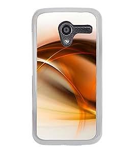 Orange Fluid Pattern 2D Hard Polycarbonate Designer Back Case Cover for Motorola Moto X :: Motorola Moto XT1052 XT1058 XT1053 XT1056 XT1060 XT1055