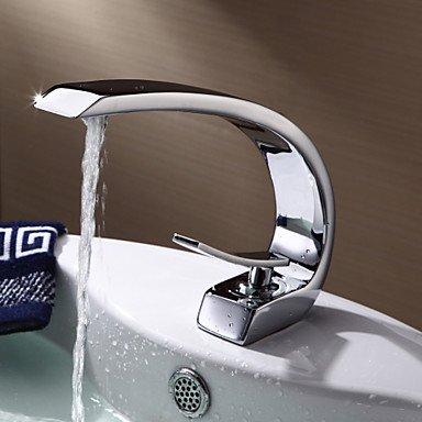 Preisvergleich Produktbild Waschbecken Wasserhahn im modernen Stil einzigen Handgriff ein Loch mit warmen und kalten Wasserhahn