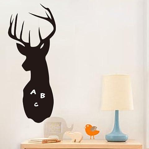 PeiTrade Kinder-Karikatur-Rotwild-Wand-Aufkleber-Kunst-Abziehbild-Haus-Raum-Dekor-Büro-Wand-Wandtapete-Kunst-Aufkleber-Abziehbild-Papier-Wandbild für Hauptschlafzimmer