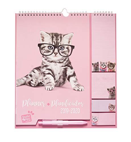 Erik cpf1902 - planificador mensual familiar 2019/2020 studio pets gato