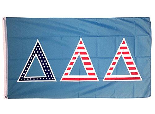 Delta Delta Delta USA Buchstabe Sorority Flagge Griechischen Buchstaben Verwenden als Großes Banner 3x 5Fuß Tri Delta